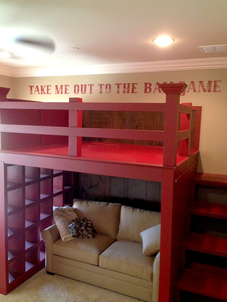 We Built A Custom Ballpark Loft Bed For A Kids Bedroom